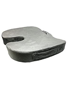 Orthopedic Memory Foam Seat Cushion for Office Chair, Car, Truck, Wheelchair or Anywhere you Desire Comfort. Provides Relief for Sciatica, Back Pain, Coccyx, Tailbone, Hemorrhoid...