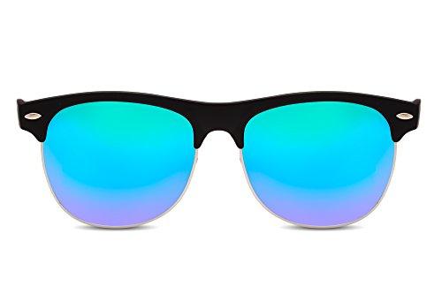 Gafas Variación Cheapass Sol Mujer Negro2 Hombre Retro Espejados de Clubmaster Tq4vwxP