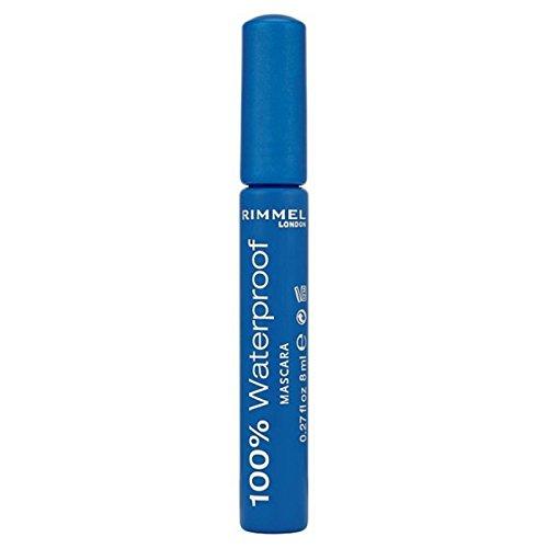 Rimmel 100% Waterproof Mascara, Black 8ml (Pack of 6) - リンメル100%ウォータープルーフマスカラ、黒の8ミリリットル x6 [並行輸入品] B07116ZHM6
