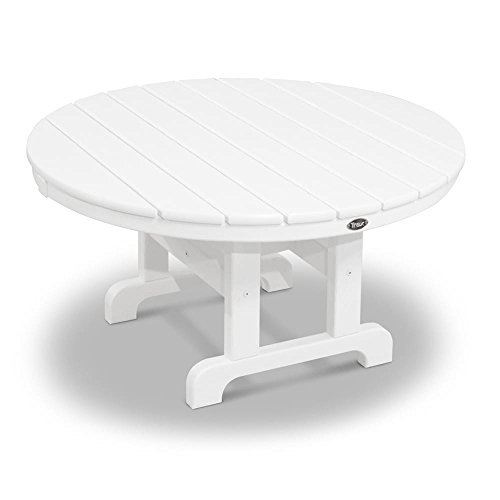 MD Group Outdoor Conversation Table White Solid heavy Duty Lumber Weather Resistant Furniture (Outdoor Furniture Sealing Staining Wood And)
