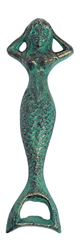 Mermaid Cast Iron Bottle Opener 6 Inches Long by Globe Imports