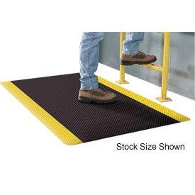 Supreme Sliptech Mat - Apache Mills Supreme Sliptech Mat, 4'W x 60' Roll, Black W/Yellow Border