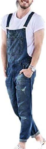 [해외]GAGA Men`s Distressed Ripped Stretchy Bib Overalls Jeans Stylish Long Pant / GAGA Men`s Distressed Ripped Stretchy Bib Overalls Jeans Stylish Long Pant 1 XL