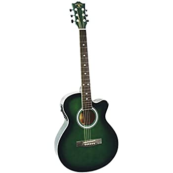 Amazon Com Indiana Madison Mad Qtbl Acoustic Electric Guitar Blue