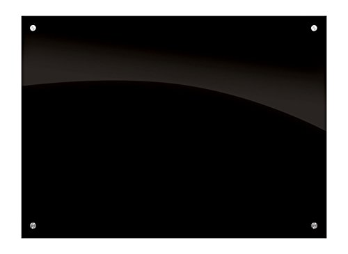 Enlighten Glass Dry Erase Markerboard Black 3