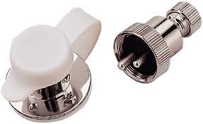 Polarized Electrical Connector Chrome Plated Chrome Brass Connectro-3 Amp,4 Pin