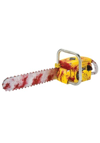 Deluxe Animated Chainsaw Costume Accessory (Chainsaw Massacre Halloween Costume)