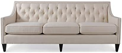 Jennifer Taylor Home Marianne sofas, Sky Neutral