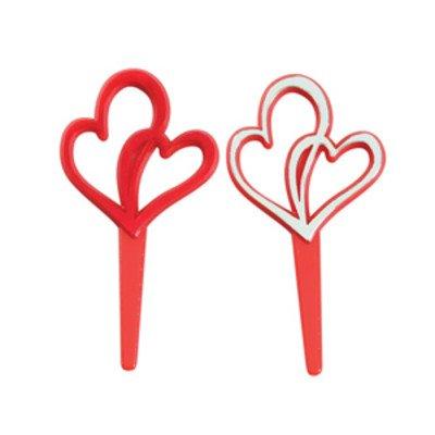 Double Heart Valentine's Day Cupcake Picks - 24 ct