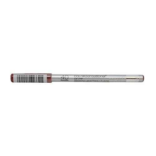 Maybelline ColorSensational Lip Liner, Raisin [40], 0.04 oz (Pack of 2)
