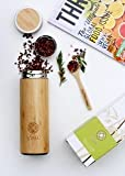 Tea Infuser Travel Coffee Mug - 400ml [13.5oz] Stainless Steel Bamboo Vacuum Insulated Tea Maker Flask   Fruit and Juice Infuser   Eco-Friendly Portable Pitcher Water Bottle from Vireo