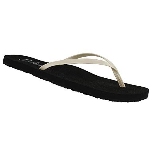 Cobian Women's Shimmer Pearl Flip Flops, 6