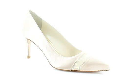 Stuart Weitzman Bridal & Evening Collection Women's Lyrics Blonde Satin Pump 7.5 M
