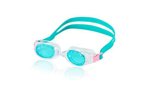 Speedo Jr. Hydrospex Classic Swim Goggle, Caribbean Blue, One ()