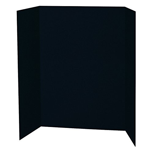 Pacon PAC3766BN Presentation Board, Black, Single Wall, 48'' x 36'', Pack of 6 by PACON