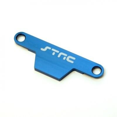 ST Racing Concepts ST3627XB Cnc Machined Aluminum HD Battery Hold Down Plate (Stampede/Bigfoot) Upgrade Parts, Blue - Battery Hold Down Plate