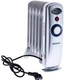 Dicore – Radiador de aceite pequeño - 500w - Termostato regulable para bajo consumo