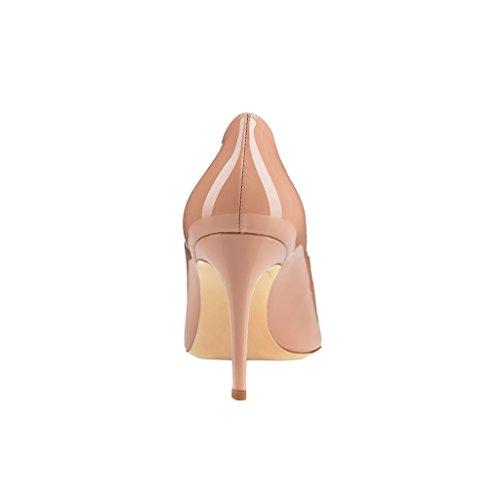 Spitzer Zehenbereich Patent Pumps Damen EKS Sexy Nude 4qxwtwOp