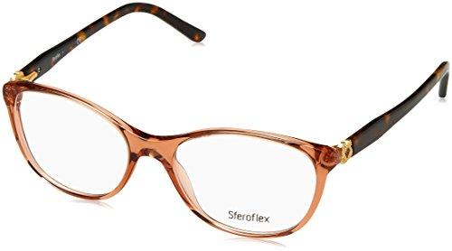 (Sferoflex SF1548 Eyeglass Frames C528-54 - Trasparent Brown Frame, Demo Lens)