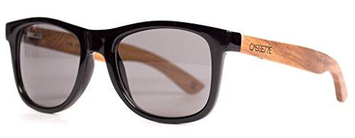 The Cassette Company Kossowood/Smoke Polarized Lens, - Sunglasses Cassette