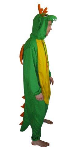 Dragón - Todo en un disfraz para adultos - Onesie Kigurumi (S): Amazon.es: Juguetes y juegos