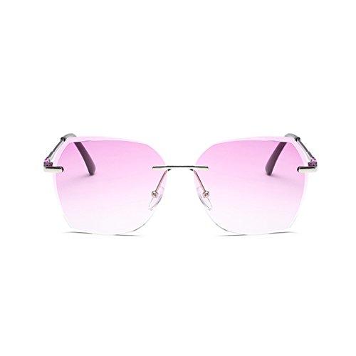 éblouissement Cadre Silver Film Sans UV polarisée Europe de Anti WLHW Anti Mode lunettes Marine Métal Amérique Mme purple UV400 soleil
