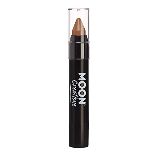 Face Paint Stick / Body Crayon Makeup for The Face & Body by Moon Creations - 0.12oz - Brown -
