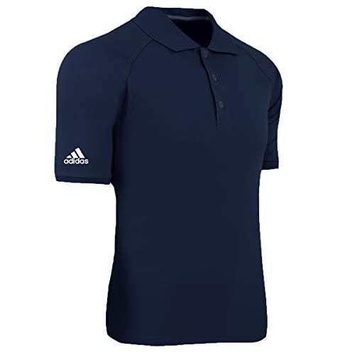 adidas Golf Mens Climalite Tour Pique Short-Sleeve Polo (A108) -Navy/White -XL