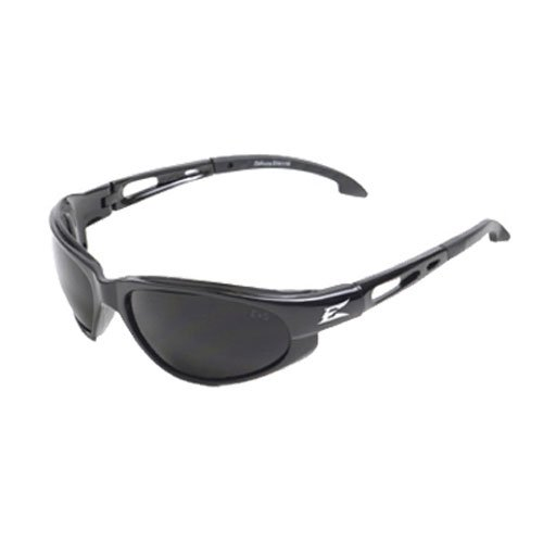 (Edge Eyewear SW116 Dakura Safety Glasses, Black with Smoke Lens)