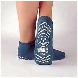 Mck48641200 - Principle Business Enterprises Slipper Socks Pillow Paws Large Teal Ankle High