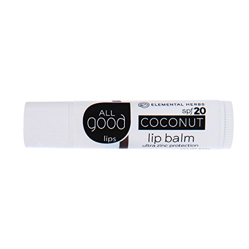 Moisturizing Sunscreen Kiehls (All Good Natural SPF 15 Lip Balm for Soft Smooth Lips - With Calendula, Lavender, Olive Oil, Beeswax, Vitamin E | Zinc Oxide for Safe Sun Protection (Coconut))