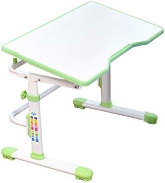 子供用テーブルと椅子 多機能の机と椅子のセットの子供の勉強台学校の学生の机の本のスタンドの高さ調整可能 (色 : 白)