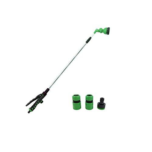 Hongville Garden Tools 8-Pattern Squeeze handle Telescopic Watering Wand Set w/1/2 & 3/4