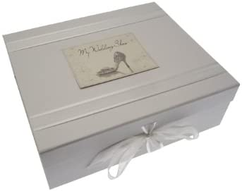 white cotton cards - Caja para guardar recuerdos de la boda ...