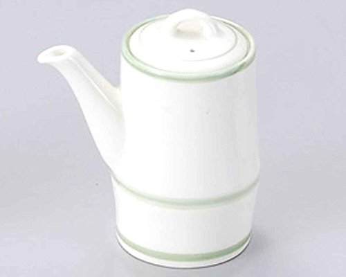 Green Lines 3.7inch Set of 10 Soy Sauce Dispensers White porcelain Made in Japan by Watou.asia