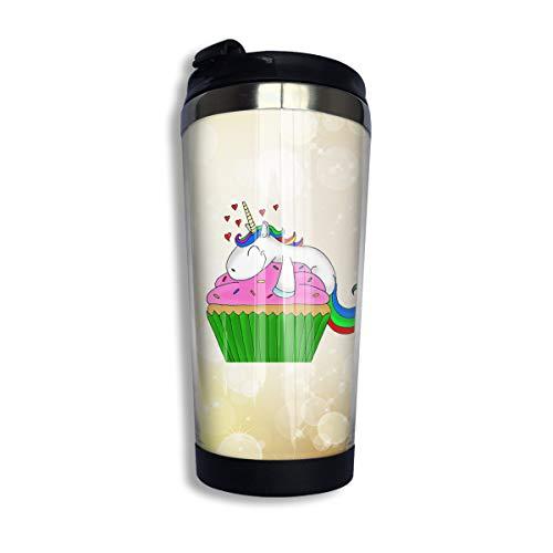 Arsmt Unicorn Cake 13.5 Oz Stainless Steel Coffee Mug Leakproof Insulated Travel Mug ()
