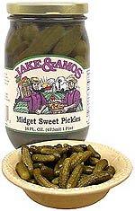 Midget Sweet Pickles 3 jars: Jake and Amos