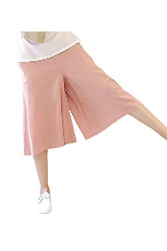 La Pierna Ancha Haren Pantalones Pantalones De Campana Pink