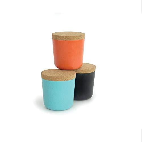 EKOBO Bamboo 16oz Storage Jar Set, 3