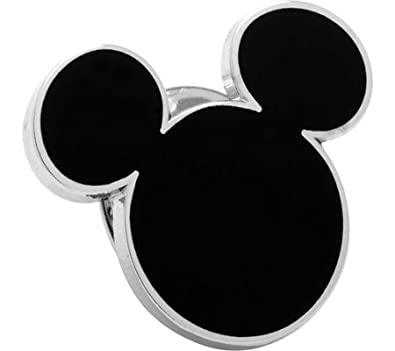 Gemelos Inc negro Mickey Mouse Pin con silueta de (negro): Amazon ...