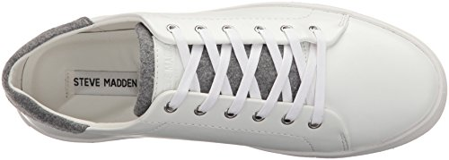 Steve Madden Heren Backbeat Fashion Sneaker Wit