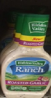 Hidden Valley Roasted Garlic Ranch Dressing, 16 fl oz (Pack of 6)
