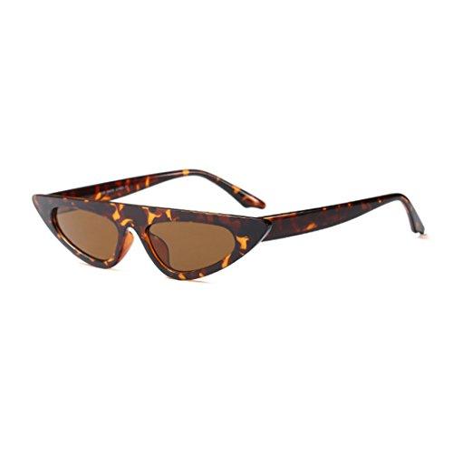 Gafas ojo de vintage diseñador Patrón sol de Gafas gato de de sol moda marco de de estilo de pequeño de Leopardo de Estilo estilo Yefree FIdW5qwF