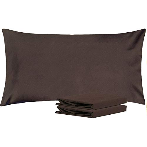 - NTBAY King Pillowcases, Set of 2, 100% Brushed Microfiber, Soft and Cozy, Wrinkle, Fade, Stain Resistant, with Envelope Closure, Chocolate