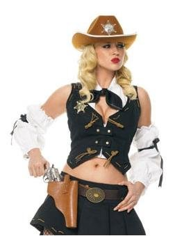Cowgirl Kit Costumes (Sheriff Kit Adult Costume Accessory Set -)