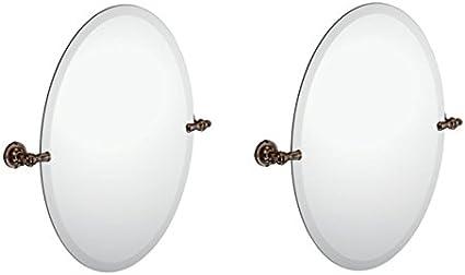 Moen Dn0892orb Gilcrest Bathroom Oval Tilting Mirror Oil Rubbed Bronze Pack Of 2 Amazon De Kuche Haushalt