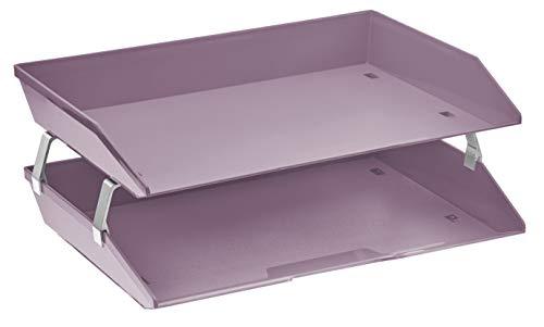 ier Letter Tray Plastic Desktop File Organizer (Solid Purple Color) ()