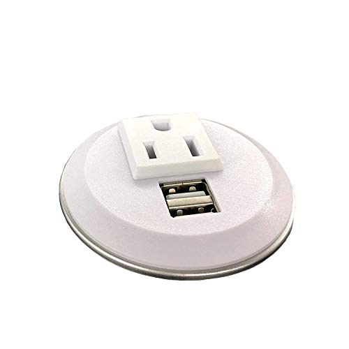 Pwr Plug Power Grommet for Desk Office Furniture Fits 2