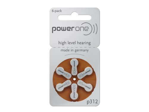 Powerone Hearing Aid Batteries Size 312   10 Packs Of 6 Cells