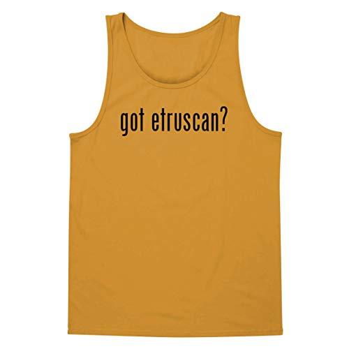 The Town Butler got Etruscan? - A Soft & Comfortable Men's Tank Top, Gold, X-Large